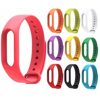 Moonar Replace Smart Watch Strap Silicone Wristband for Xiaomi Mi Band 2nd (Watch strap) - intl Price Philippines