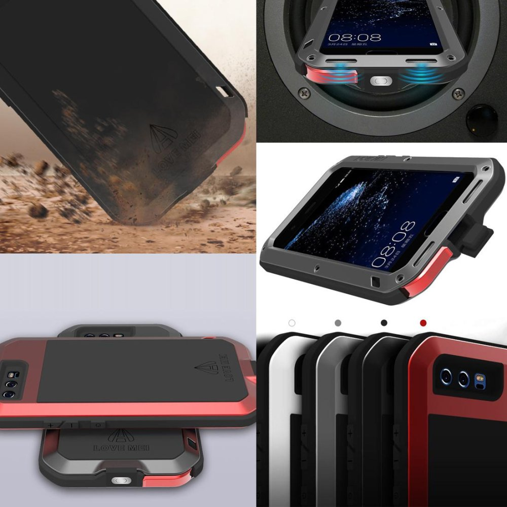 Mooncase Case For Huawei P10 Plus Waterproof,Shockproof Snowproof Dustproof Durable Aluminum Metal Gorilla Heavy