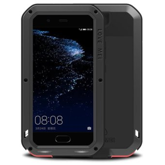 Mooncase Case For Huawei P10 Waterproof,Shockproof SnowproofDustproof Durable Aluminum Metal Gorilla Heavy Duty Full-bodyProtection Case Black - intl