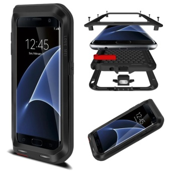 Mooncase Case For Samsung Galaxy S7 Edge Waterproof,ShockproofSnowproof Dustproof Durable Aluminum Metal Gorilla Heavy DutyFull-body Protection Case Black - intl