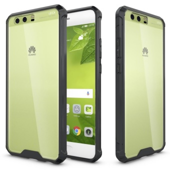 Mooncase Huawei P10 Plus Anti Shock Transparent Back Case Soft Thin TPU Case Cover Black -