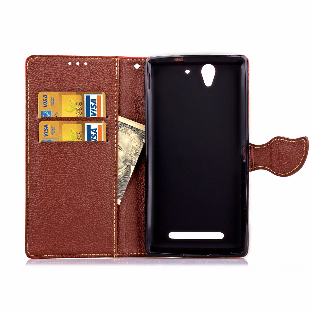 Moonmini Case for Sony Xperia C3 - Light Green Stylish Leaf PatternPU Leather .