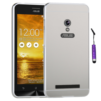 Moonmini Metal Frame Bumper Case for Asus Zenfone 5 (Silver)