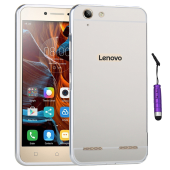 Moonmini Metal Frame Bumper Case for Lenovo Vibe K5 Plus (Silver)