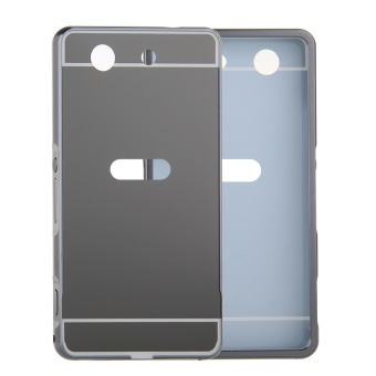 Moonmini Metal Frame Bumper Case for Sony Xperia Z1 Compact / Z1Mini (Black)