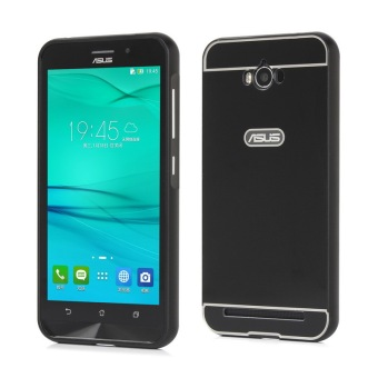 Moonmini PC Back Cover Metal Bumper Frame Case for Asus ZenFone Max ZC550KL (Black)