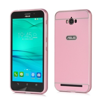 Moonmini PC Back Cover Metal Bumper Frame Case for Asus ZenFone MaxZC550KL (Pink)