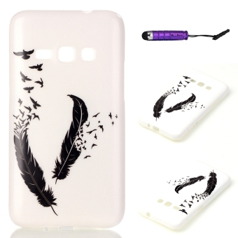 Moonmini Soft TPU Phone Back Case Cover for Samsung Galaxy J1(2016)(Feather) (Intl) - Intl