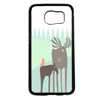 Moose Pattern Phone Case For Samsung Galaxy S6 (Black)