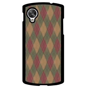 Mosaic Check Pattern Phone Case for LG Nexus 5 (Multicolor)