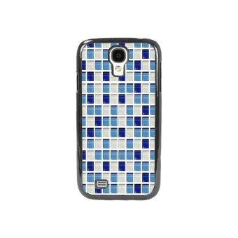 Mosaic Check Pattern Phone Case for Samsung Galaxy S4 (Blue)