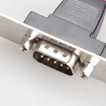 Motherboard RS232 DB9 Pin Com Port Ribbon Serial Cable Connector Bracket - picture 2