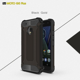 Moto G5 Plus Case Armor Series Shock-proof Impact HardPolycarbonate Cover + Inner Soft Rubber 2 in 1 Rugged Case forMotorola Moto G5 Plus - intl