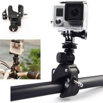 Motorcycle Bicycle Handlebar Mount Clamp for Gopro Hero 3+ 3 2 1Camera - intl
