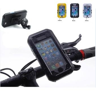 Motorcycle Handlebar Mount Holder for Apple iPhone 6 / 6s Plus 5.5 inch Bike Phone Holder Support Waterproof Case (Black For i6 6S PLUS) - intl - 3