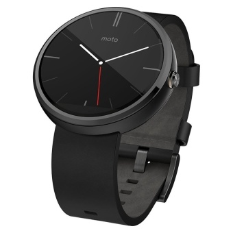 Motorola Moto 360 - Black Leather Smart Watch forAndroidDevices(Certified Refurbished) - intl Price Philippines