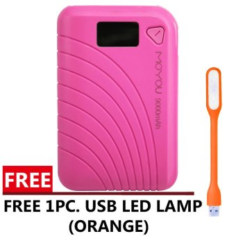 MoYou 9000Mah Powerbank (Pink) with FREE USB LED Lamp