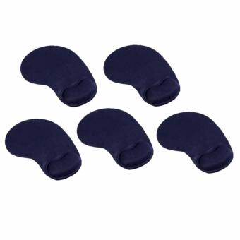 MP110 Mouse Pad with Wrist Rest Set of 5 (Blue)