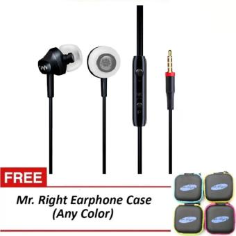 Mr. Right M8 110dB Original SuperBass Intelligent In-Ear Headphones(Black) with free Mr. Right Headphone Case (any color)