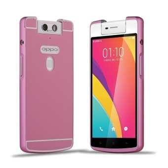 Msvii Metal Frame with Back Case for OPPO N3 (Pink)