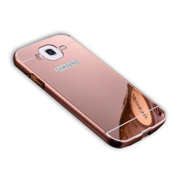Msvii Metal Frame With Mirror Plating Back Cover Case For SamsungGalaxy Mega 5.8 -Rose Golden Color