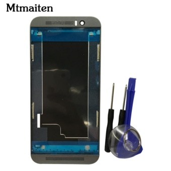 Mtmaiten New Front Housing LCD Panel Frame Cover Case For HTC OneM9 Faceplate Front Housing LCD Panel Frame - intl