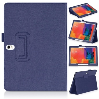 Multi-Angle Stand Slim-Book PU Leather Case Cover with Stylus SlotHolder Auto Sleep/Wake for Samsung Galaxy Tab Pro 10.1 SM-T520 T525/ Samsung Galaxy Note 10.1 (2014 Edition) - intl