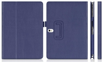 Multi-Angle Stand Slim-Book PU Leather Case Cover with Stylus SlotHolder Auto Sleep/Wake for Samsung Galaxy Tab Pro 10.1 SM-T520 T525/ Samsung Galaxy Note 10.1 (2014 Edition) - intl - 2