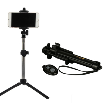 Multi Function Bluetooth Selfie Sticks + Tripods Monopods (Black)