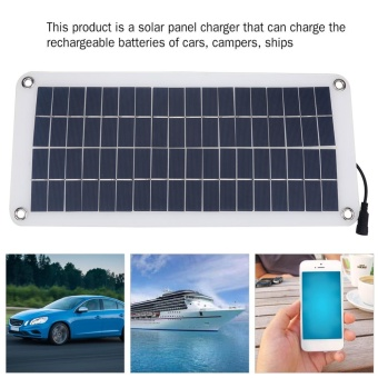 Multi-Function Portable Outdoor Solar Panel Charger for CellphoneCar Boat Battery - intl