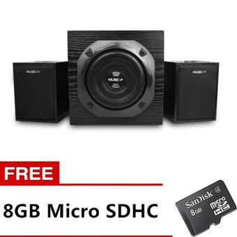 Music Angel F520 Subwoofer Multifunction Bluetooth Speaker (Black)with FREE 8GB Memory Card Price Philippines