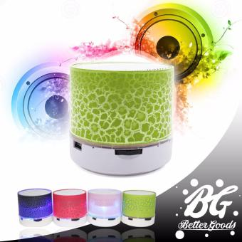 MUSIC Mini portable speaker with changing LED color and WirelessBluetooth speaker (Green)