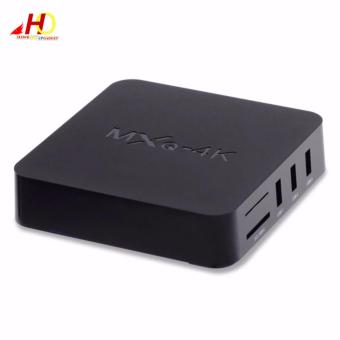 MXQ 4K Ultra HD TV BOX Android 6.0 Marshmallow Quad Core 1G/8G 4K Google Streaming Media Player Smart TV Box with WiFi, HDMI, DLNA (Black) Price Philippines