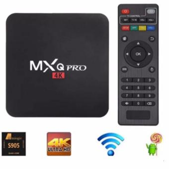 MXQ Pro 4K Ultra HD TV Box Wireless Wifi Quad Core Android Lolipop5.1 Smart Streaming Media Player (Black)