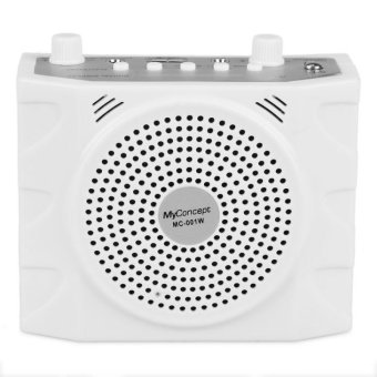 My Concept MC-001W Portable Lapel Amplifier with FM/USB/TF Port(White) Price Philippines