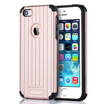 Mypro Venus series Hard PC/ Soft TPU Dual Layer Shockproof Anti-slip Cover for Apple iPhone 5/5s/SE (Rose Gold)