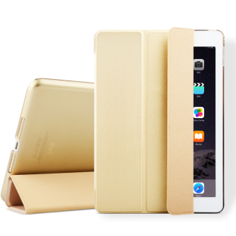 Mypro Young Series Ultra Slim Smart Cover with Auto Sleep/WakeFunction for Apple iPad Air 2/iPad 6 (Gold)