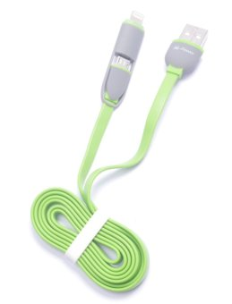 N-Power NP-7070 2-in-1 Safe Charge Speed and Data Connector Cable(Green) #0129