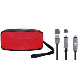 N10 Extreme Bluetooth Speaker (Red) with 2 in 1 USB Cord Color May Vary