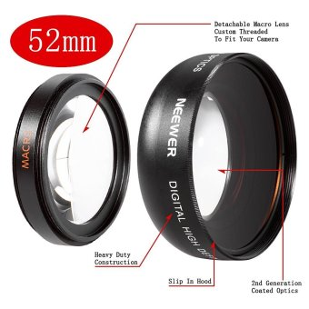 Neewer 52MM 0.45X Wide Angle High Definition Lens with Macro forNIKON D5300 D5200 D5100 D5000 D3300 D3200 D3000 D7100 D7000 DSLRCameras