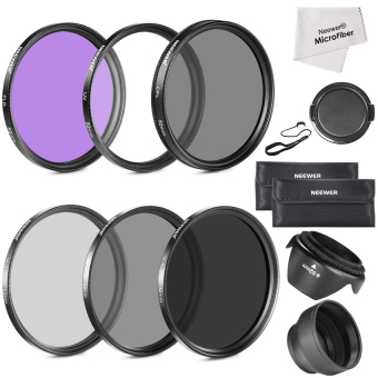 Neewer 52MM LENS FILTER ACCESSORY KIT(FILTER KIT+ND KIT+RUBBER LENSHOOD) (Intl)