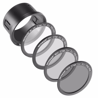 Neewer for DJI Phantom 3 Professional, Advanced and Standard 37MM Filter Kit: UV Filter + Polarizing Filter + ND4 Filter + ND8 Filter + Snap-on Adapter Ring + Filter Pouch - intl