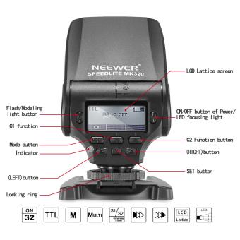 Neewer MK320 TTL LCD Display Speedlite for Sony - 4