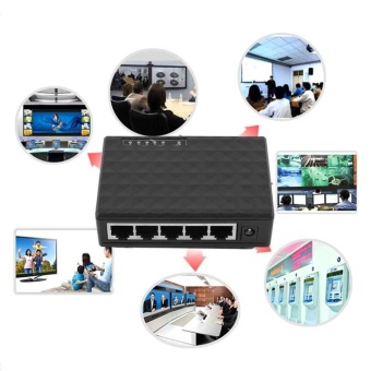 Network RJ45 Switch Hub 5 Port Gigabit Ethernet 1000mbps 5 SplitRouter Cable - intl