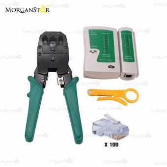 Network Wire Stripper Pliers Crimper Cable Tester Hand Tools Kit Set