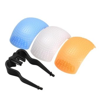 New 3 Color Pop-Up Flash Diffuser Cover for Canon Nikon SDR DSDR Camera - intl