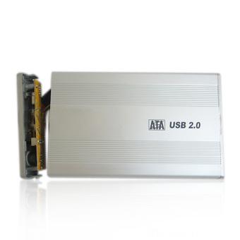 New 3.5 inch Silver USB 2.0 SATA External HDD HD Hard DriveEnclosure Case - 2
