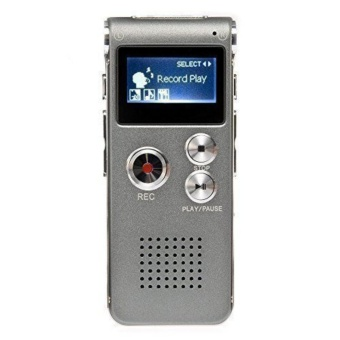 New 8GB Voice Sound Recorder USB Rechargeable Dictaphone LCD Recorder MP3 Player - intl