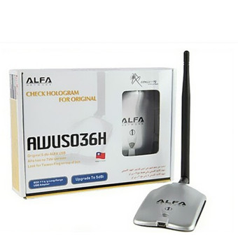 NEW ALFA AWUS036H 150Mbps High Power 1000MW WIFI USB Adapter 5DBAntenna Ralink - Intl Price Philippines