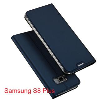 New Crashproof Flip Leather Magnet Phone Case for Samsung S8 Plus -intl